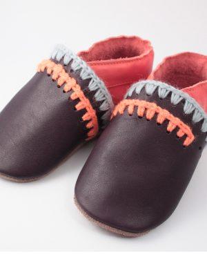 chausson enfant cuir marron idéal premiers pas